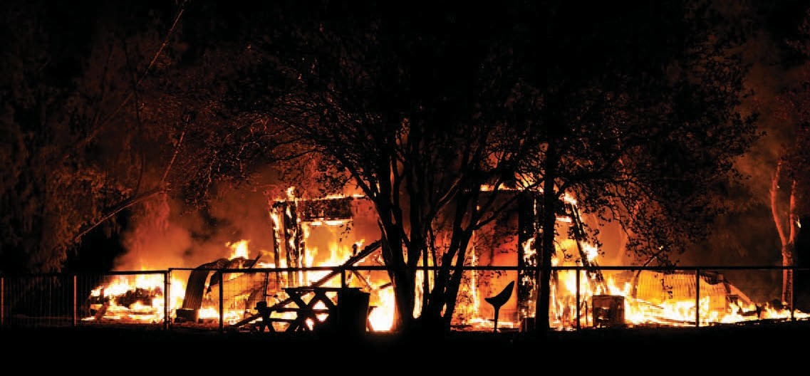 Martinez homestead a total loss after early morning fire erupted on Monday.