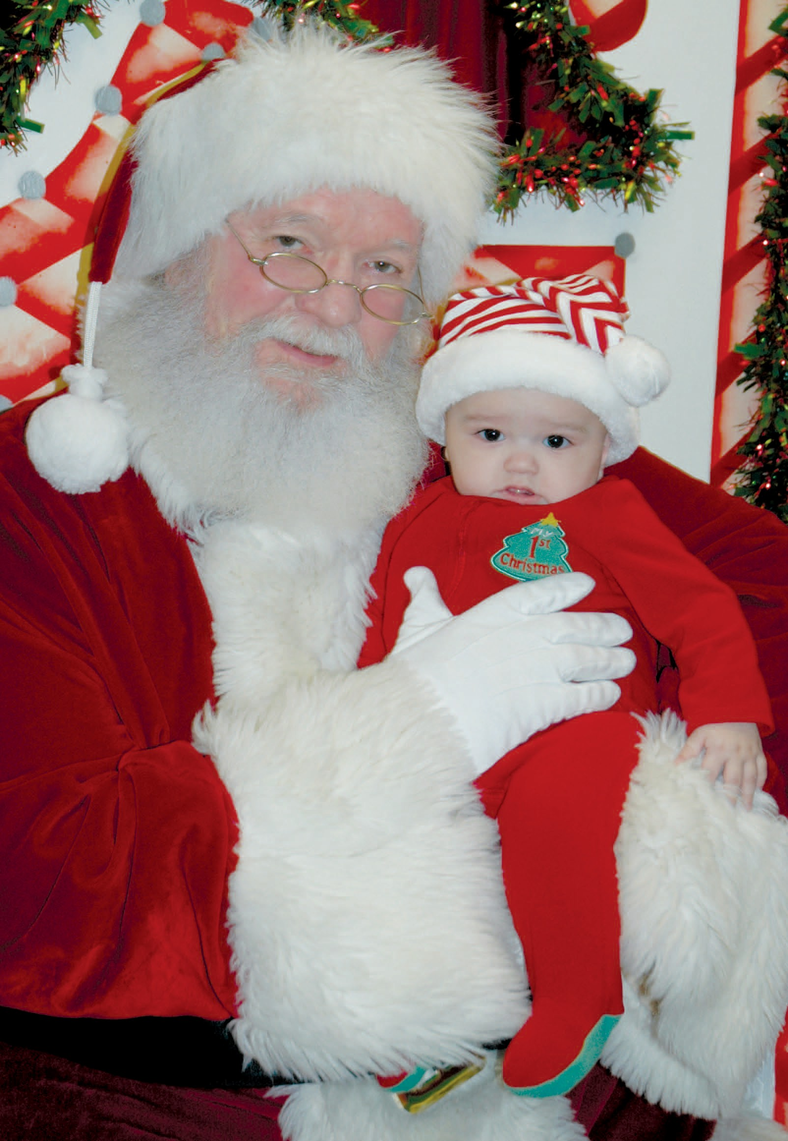 At the age of 6 months, Tomas Joaquin Teniente may not know exactly what he wants for Christmas, but he was happy to have his very first visit with Santa Claus on Monday, December 5, at the Jourdanton Community Center/Library. Little Tomas was in Jourdanton visiting relatives. He is the son of Crystal Goins and Tomas Teniente.