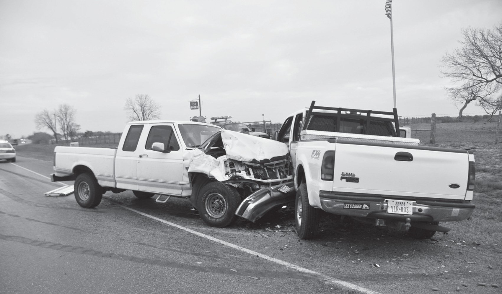 A wreck involving two pickup trucks occurred last Wednesday, February 15. Robert L. Tooke was eastbound on the improved shoulder on FM 476. The driver of the other truck was Rita Gallegos who was also traveling east. Tooke failed to yield right of way and turned left in front of Gallegos, striking the left side. Gallegos was taken to South Texas Regional Medical Center by EMS. Tooke was treated at the scene.