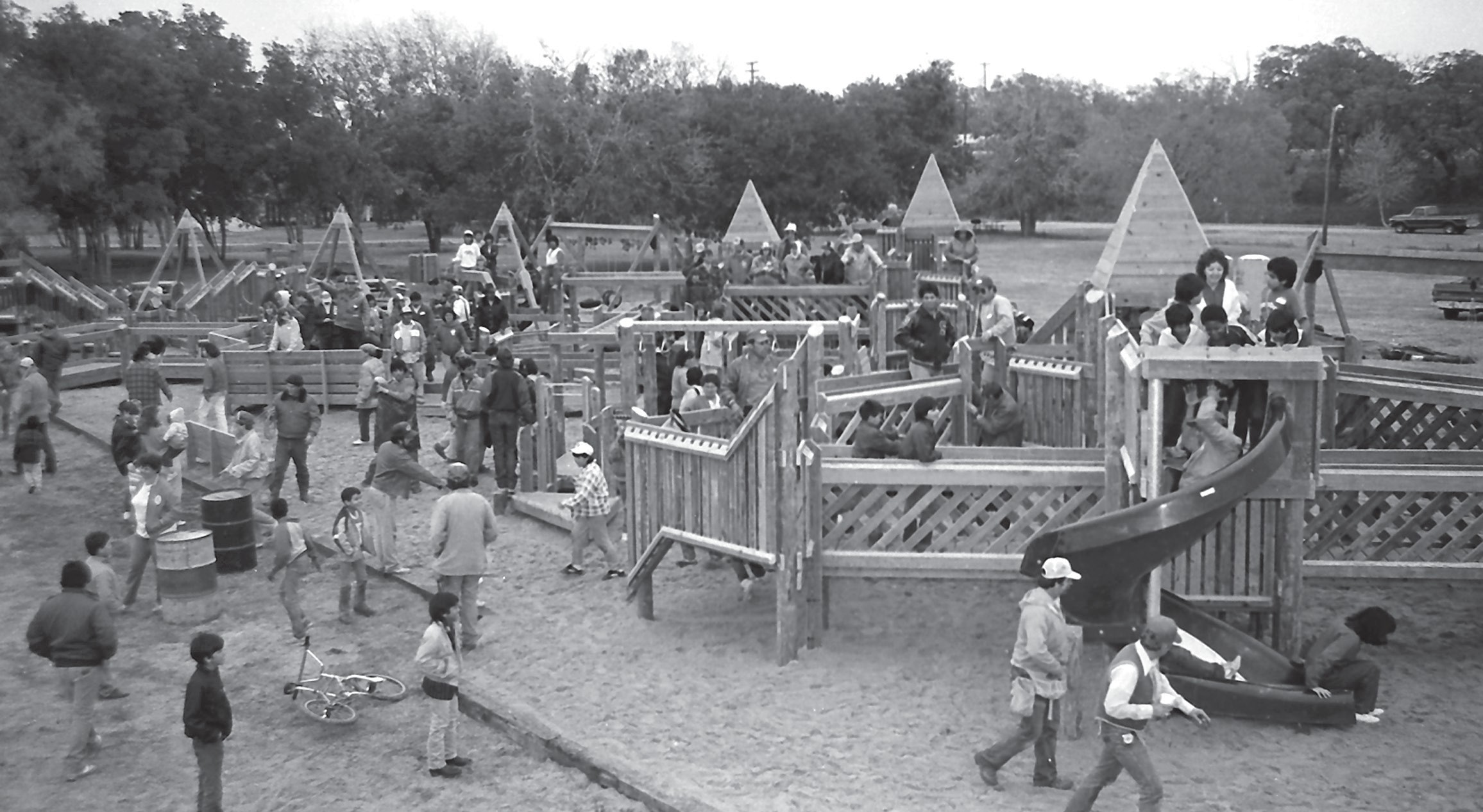 The completed playground in 1987.