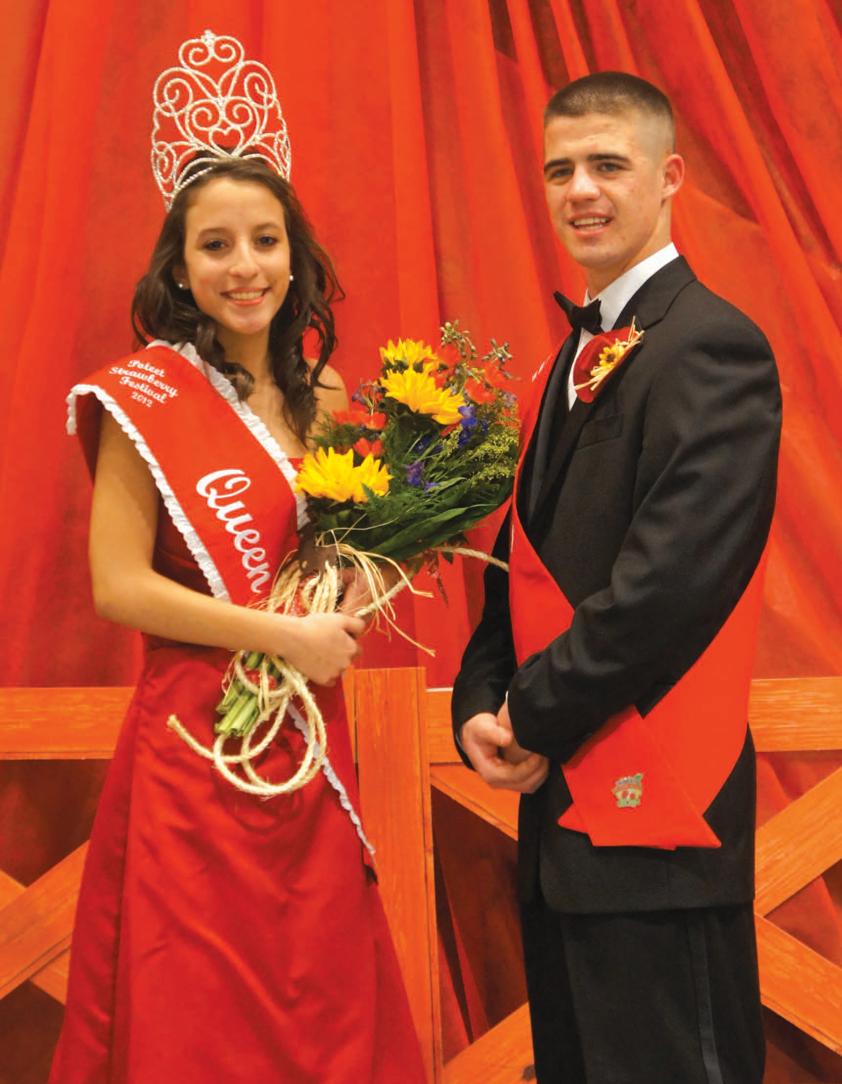 Reigning over the 65th annual Poteet Strawberry Festival are Queen Leslee Ramon and King Brandon Christopher Lopez.