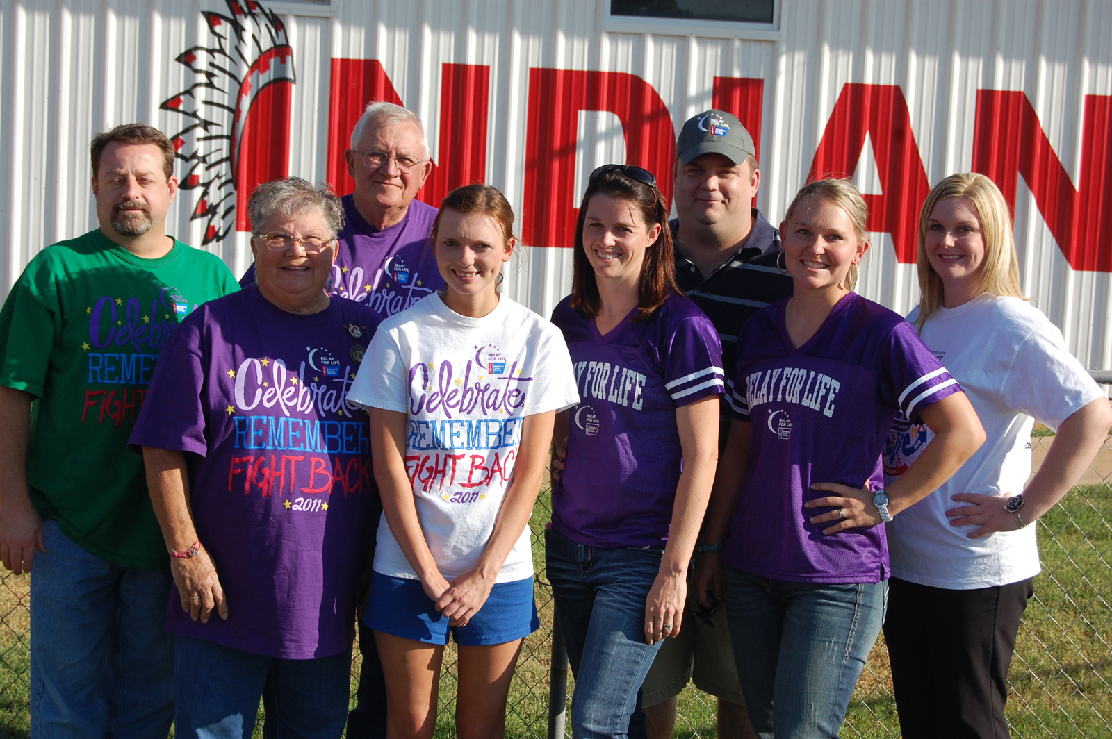 Pictured are members of Relay For LIfe 2012 Committee (l to r) John Phish, Charlotte Ramsey, Charles Ramsey, Tracy Paige, Kristy David, David Wickersham, Jessi Brymer and Amber Zellweger.