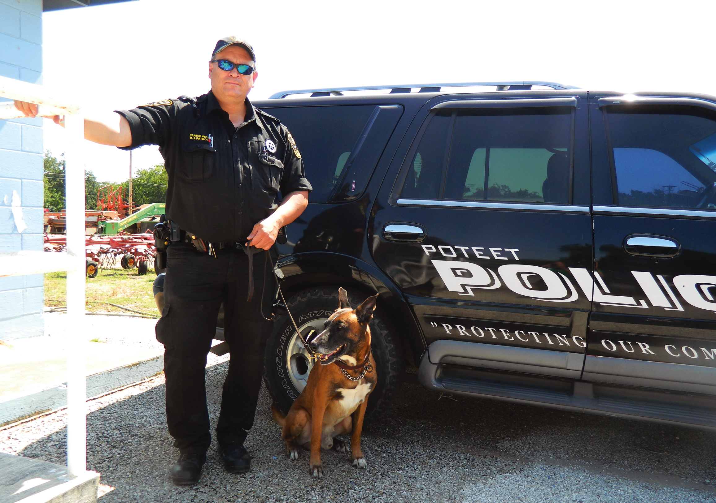 "K-9 Officer Sgt. Luis Farias and his four-legged partner ""Nikko"", a Belgian Malinois, have joined the Poteet Police Department. Farias, an officer back in 2008-2009, returns to the Strawberry City and they are ready to prevent crime."