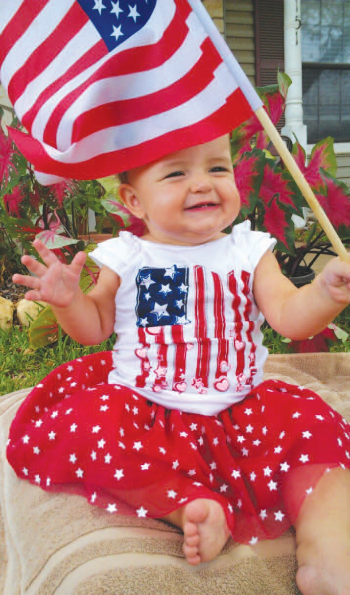 Clara June Wagner celebrates her freedom this 4th of July. One-year-old Clara is the daughter of Matt and Susan Wagner of Charlotte. She is the granddaughter of Ora Lee Sims and Bryan and Lynn Harvey all of Charlotte.