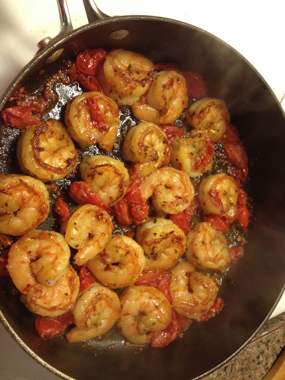 Sizzlin' shrimp.