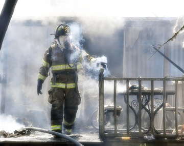 Lytle Volunteer firemen quell a fire that broke out around 3 p.m. in the 700 block of Crestway west of Primrose on Wednesday, August 8. Poteet, Pleasanton, Rossville, Primrose and Jarrett Volunteer Fire Departments also responded.