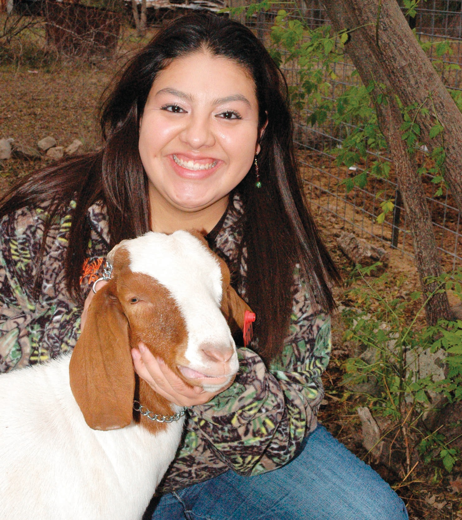 "FFA member Marianne Ramon, sophomore, is ready to show her goat ""Diesel"" this weekend at the McMullen County Junior Livestock Show. Weigh-ins begin on Friday with judging starting early Saturday morning. The big auction begins at 2 p.m."