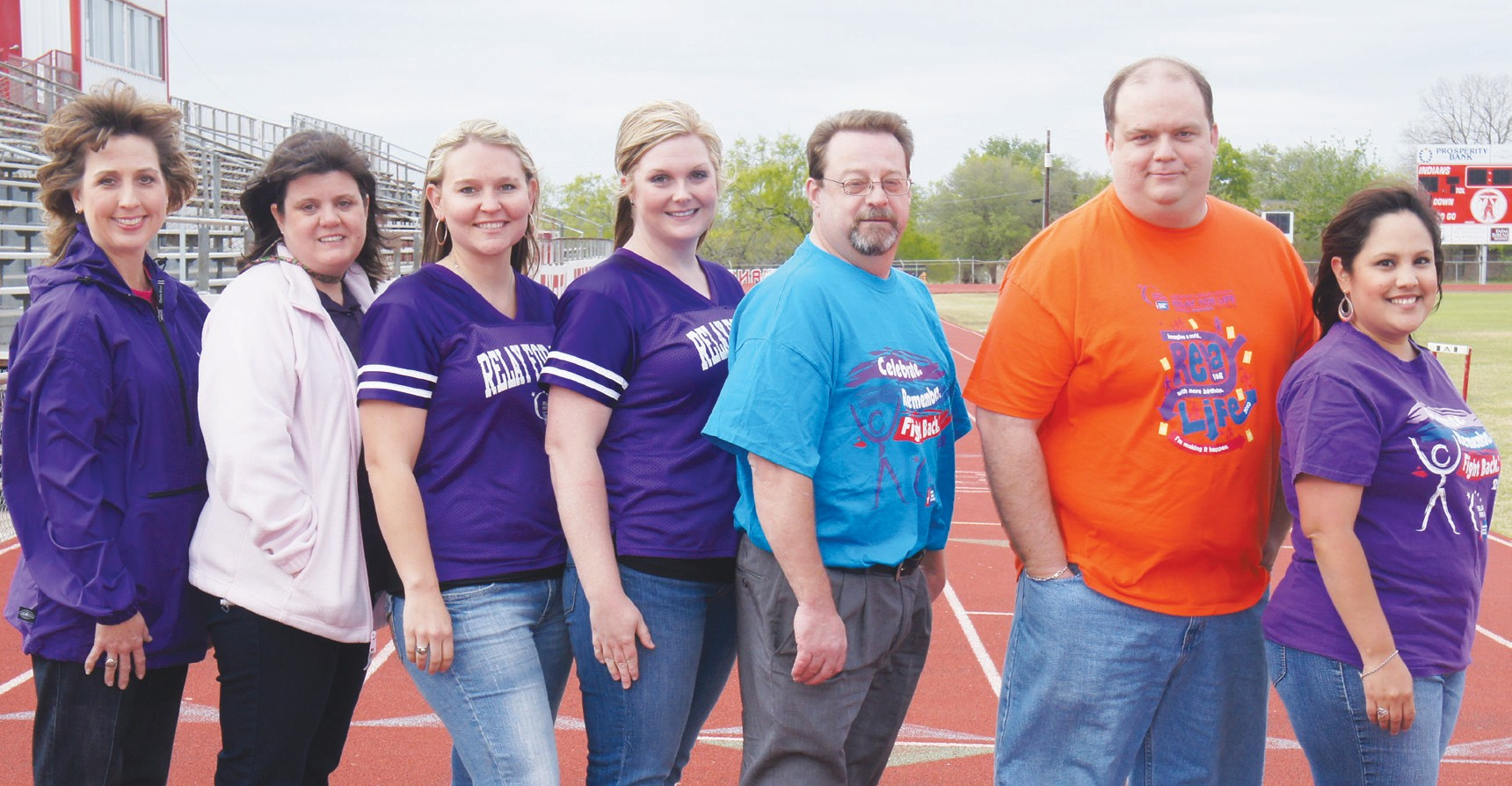 The Relay For Life of Atascosa County committee pictured left to right Cheryl Northcott, Laura Marsh, Jessi Brymer, Amber Zellweger (Relay for Life Committee Chair), John Pish (Community Manager-American Cancer Society), David Wickersham and Kara Luna. Not pictured Sheri Zellweger, Gail Dale, Traci Page and Kristy David. They all encourage you to come fight back against cancer and join them at the Relay For Life event at Jourdanton Football Stadium on April 6th at 7:00 pm.