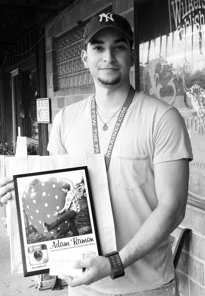 Adam Ramon was the winner of our first Poteet Strawberry Festival Instagram contest. With over 100 entries Adam came out on top. He won a $25 gift certificate to Mane Image in Poteet and a commemorative print of his photo.
