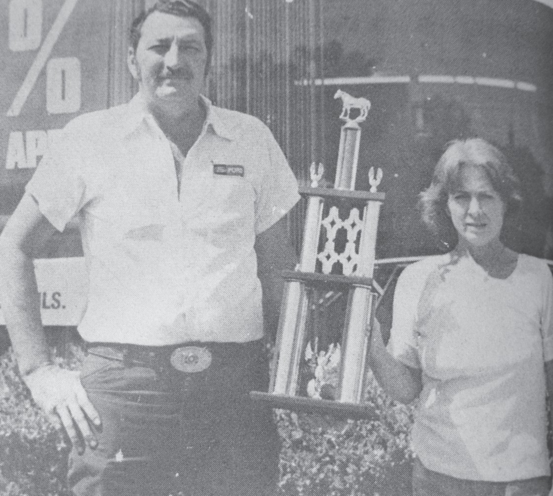40 YEARS AGO - Jourdanton Days Chili Cook-off co-chairmen Malvin and Marty Prasifka show off the first place trophy that Malvin won this last weekend at Karnes City's Crazy Red Horse Chili Cook-off. This win qualifies Malvin to enter the World Championship Cook-off which will be held in November. Remember the Jourdanton Days Cook-off is set for Saturday.