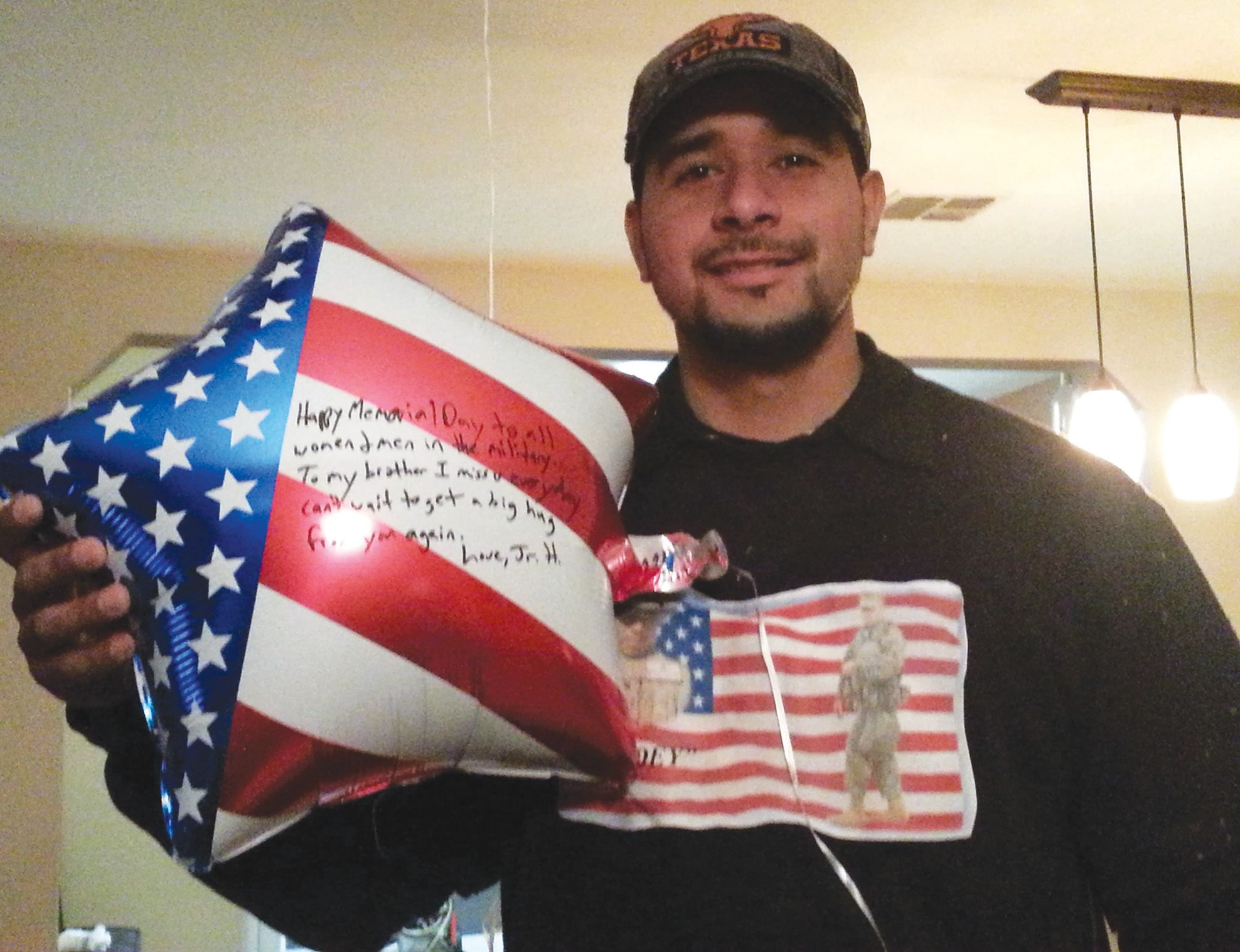 Jr. Heritage and his family released balloons on Memorial Day, in honor of Sgt. Jose Luis Saenz III.