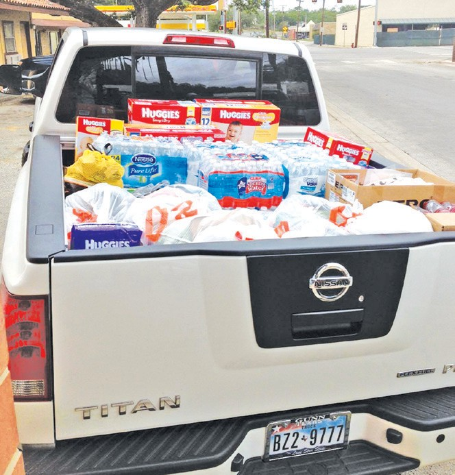 This is just one of the three truckloads picked up from the Pleasanton Express of donated items headed to the tornado victims of Moore, Oklahoma.