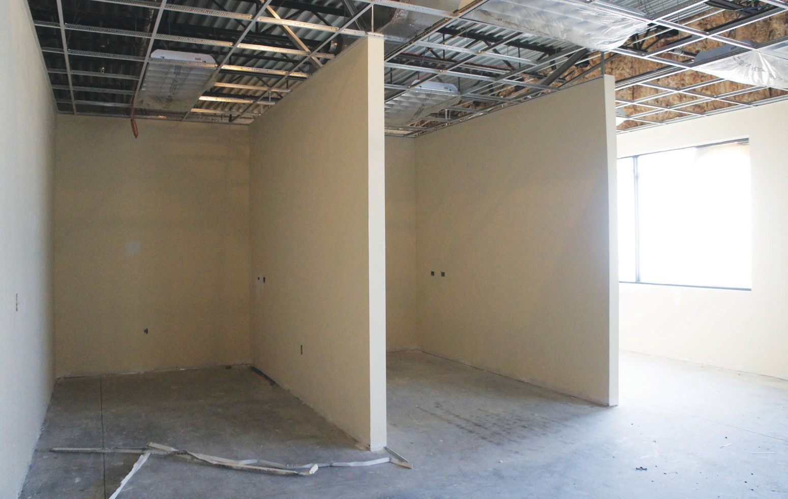 These cube areas will become treatment rooms for therapy patients.