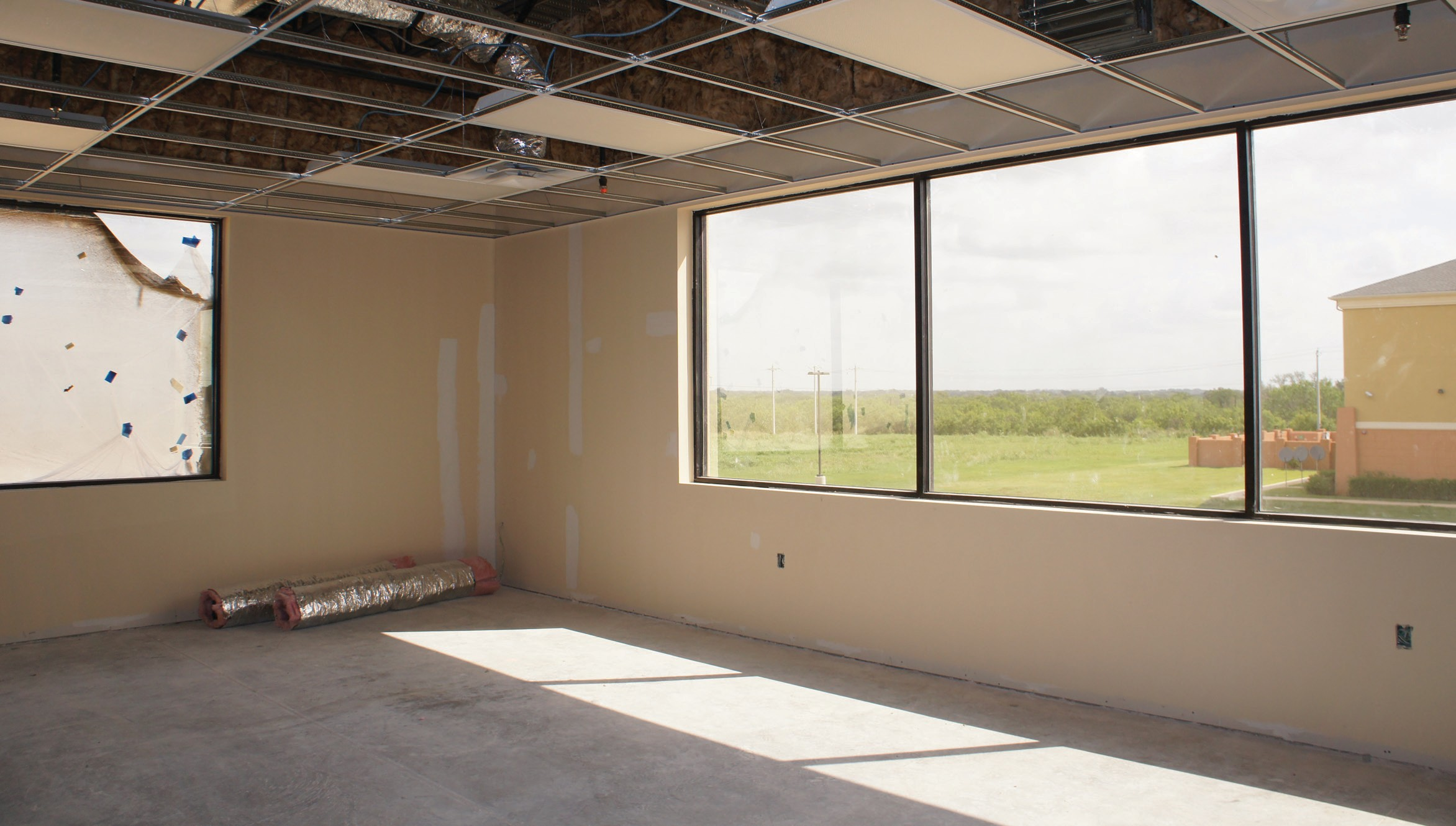 This room will be used for pediatric therapy.
