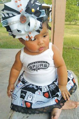 She's the biggest little Spurs fan in South Texas and never expected it. Six-month-old Jazmyn Coronado was the collector of over 57,000
