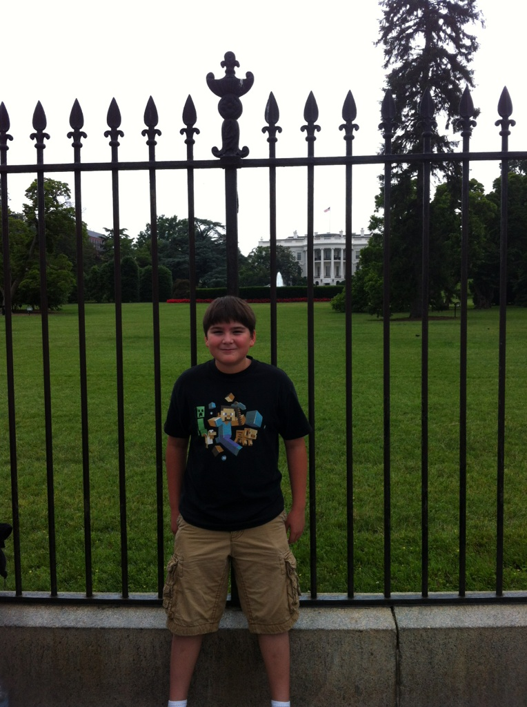 Gavin at the White House.