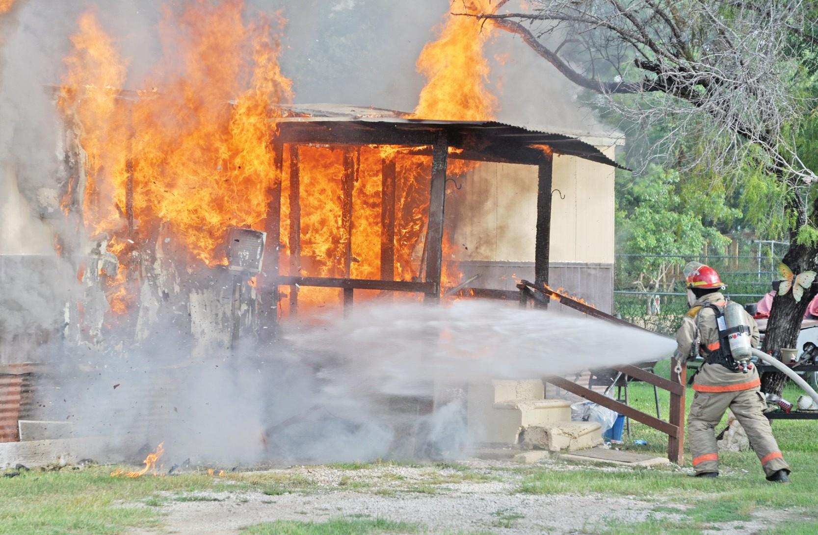 Fire destroys home   Pleasanton Express