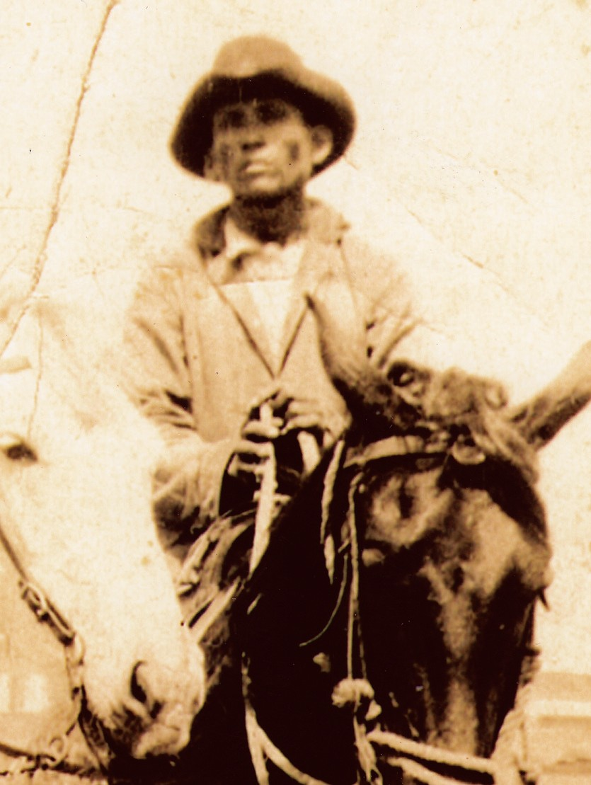 Jacinto Gutierrez, Jr. , newest inductee into the South Texas Cowboy Hall of Fame, in his younger days.