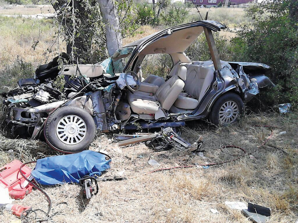 This is what remains of the Zettner's 2006 Pontiac after they were hit from behind by a commercial truck on their way to lunch on Wednesday. Gayle Frances Zettner was killed, Stanley was flown to University Hospital.