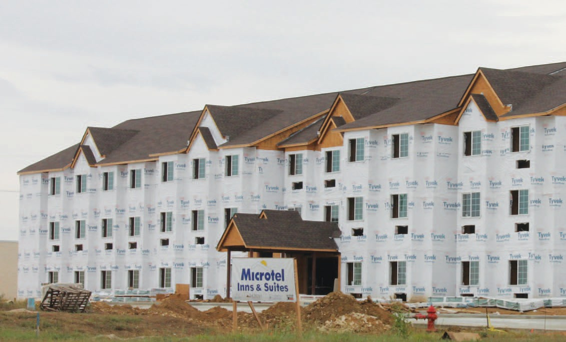Microtel Inn & Suites being constructed on Oaklawn.