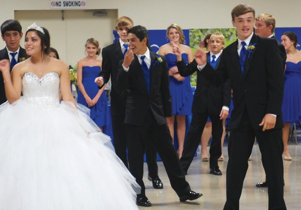 Jillian Olivarri and the boys dance for the crowd.