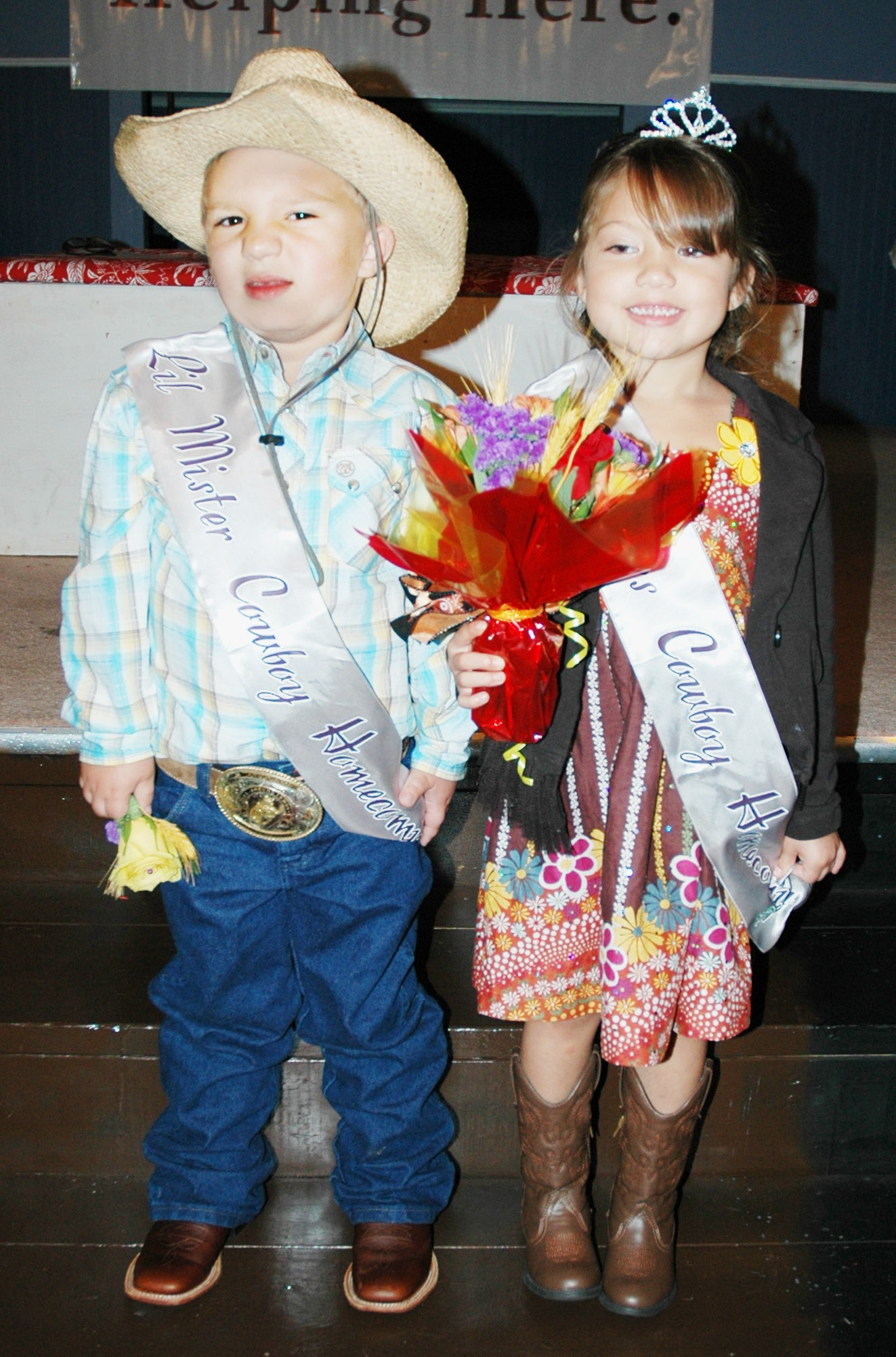 Lil' Mr. & Miss Cowboy Homecoming Killian Kaiser and Laney Aguilar will help represent Pleasanton during the the 48th Annual Cowboy Homecoming Festival October 25-26.
