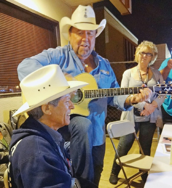 The Johnny Lee & Johnny Rodriguez shows were cancelled at Market Days. During an autograph session they broke out in song and still entertained the crowd on hand.