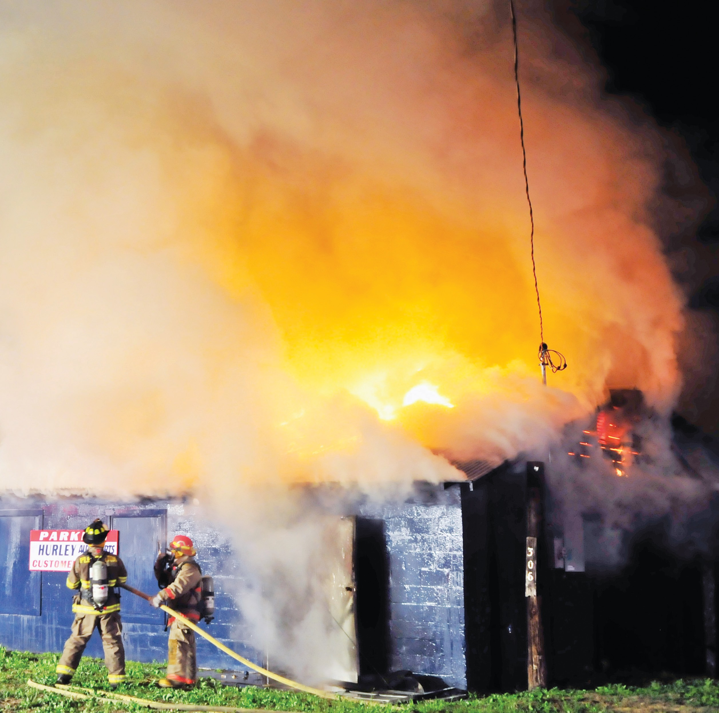 A warehouse holding parts for Hurley Auto Parts caught fire and burned on February 14 just before midnight. The fire is currently under investigation.