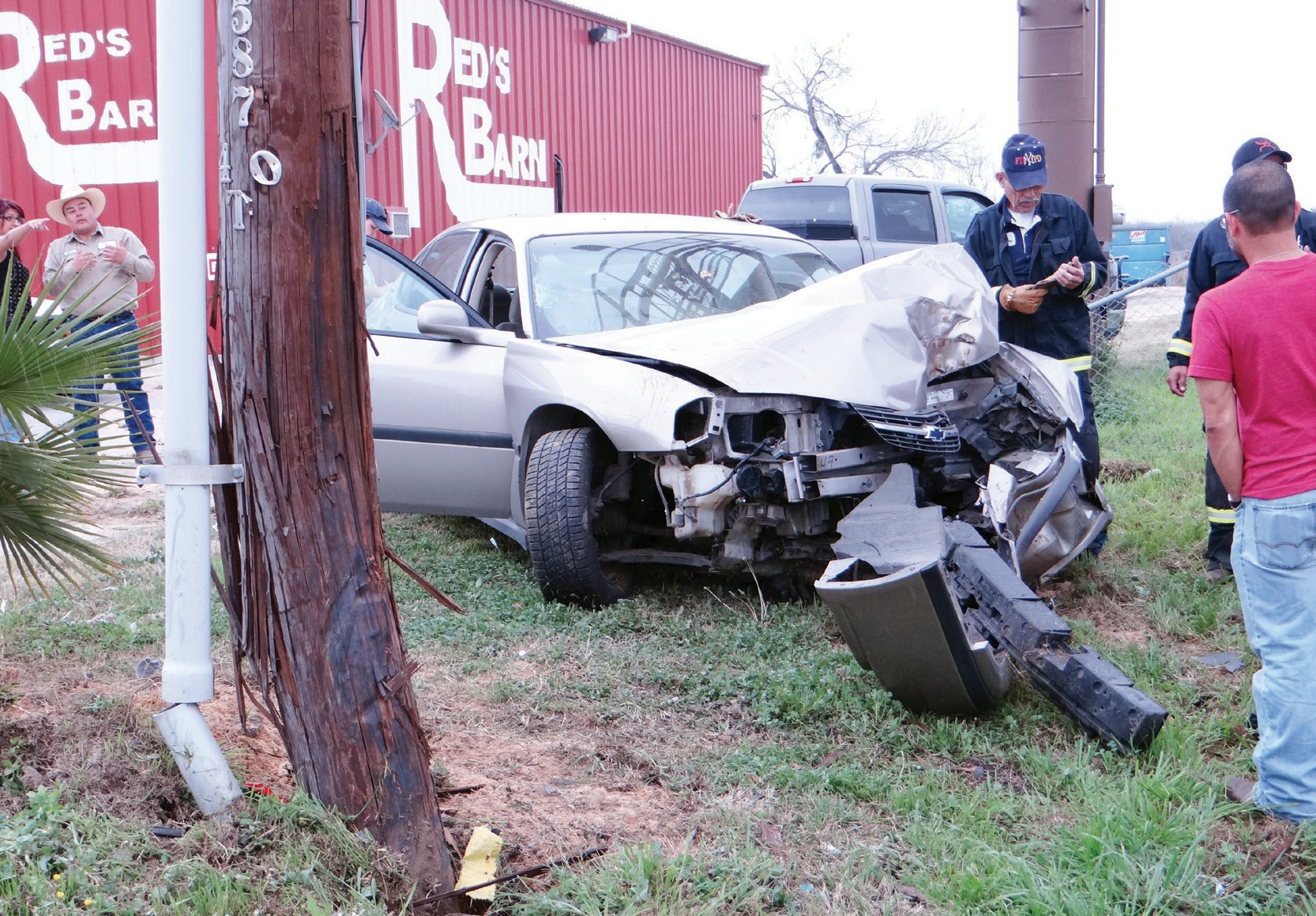 A driver heading on Hwy. 97E veered of the road and crashed his Ford Taurus into a light pole on 1100 block of West Oaklawn on Thursday, February 20. The driver was checked by EMS. No injuries were reported.