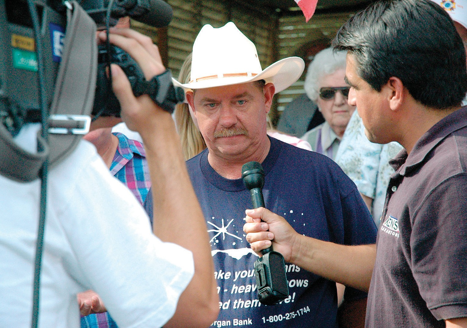 Raymond Marek was featured in KENS5 Backyard Bar-B-Q segment in 2006. Weatherman Paul Mireles interviewed the double transplant recipient among a family and friends celebration of life.