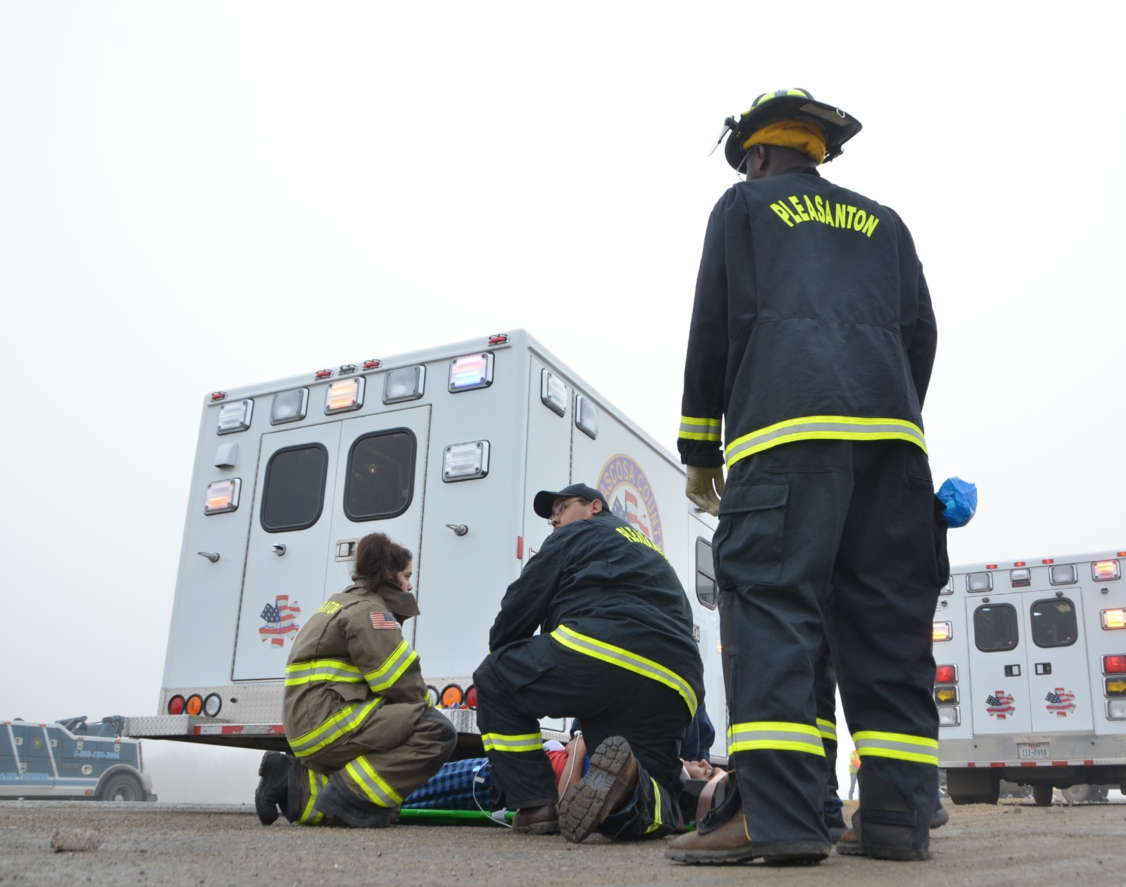 Fog is blamed for a four car pileup that happened around 8 a.m. on Saturday, March 1 at the corner of U.S. 281 and Wyoming Blvd, near the old perfume factory. Three EMS units transported five people to STRMC.
