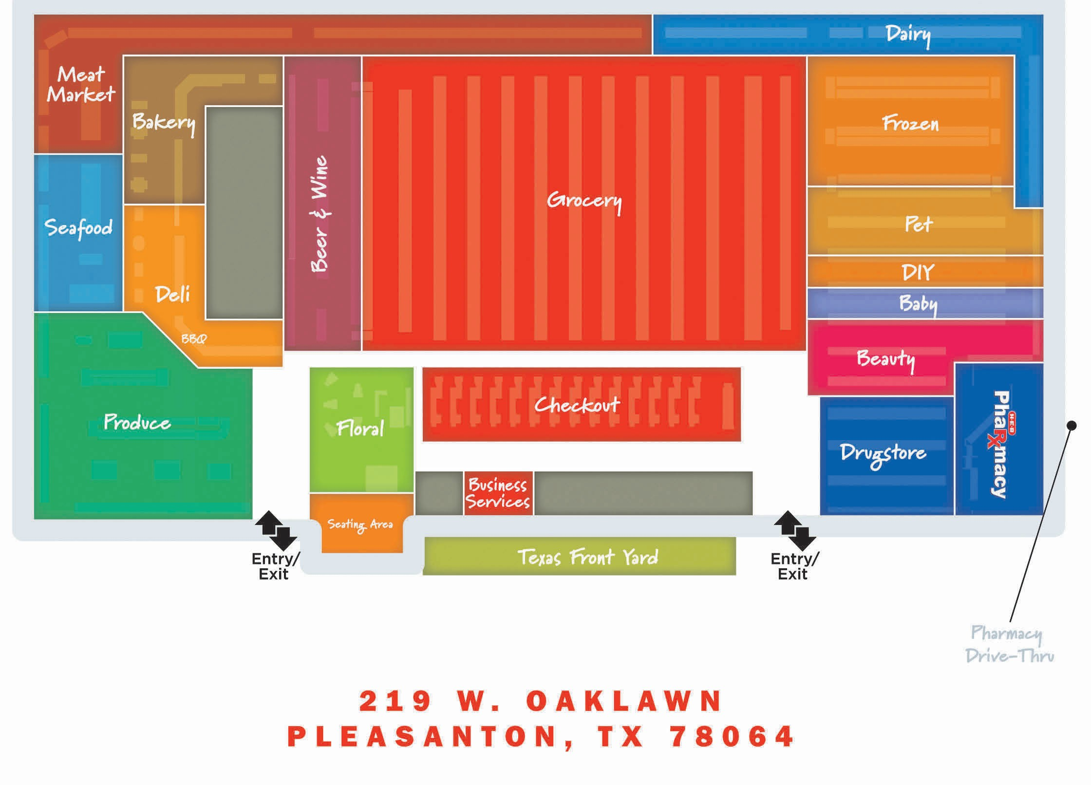 Floor plan for the enlarged H-E-B in Pleasanton.