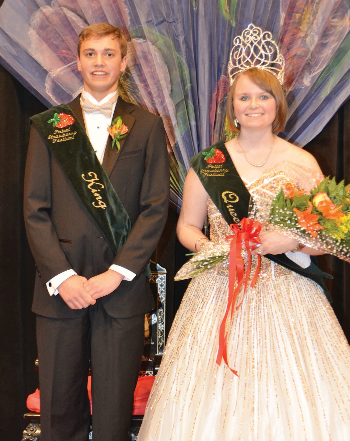 "2014 Strawberry King Clayton Akers and Queen Caitlin Crisp were crowned last Saturday at the ""Blooms of the Orient"" themed coronation. They would like to invite everyone to join them at the 67th Annual Strawberry Festival, April 4-6, 2014."