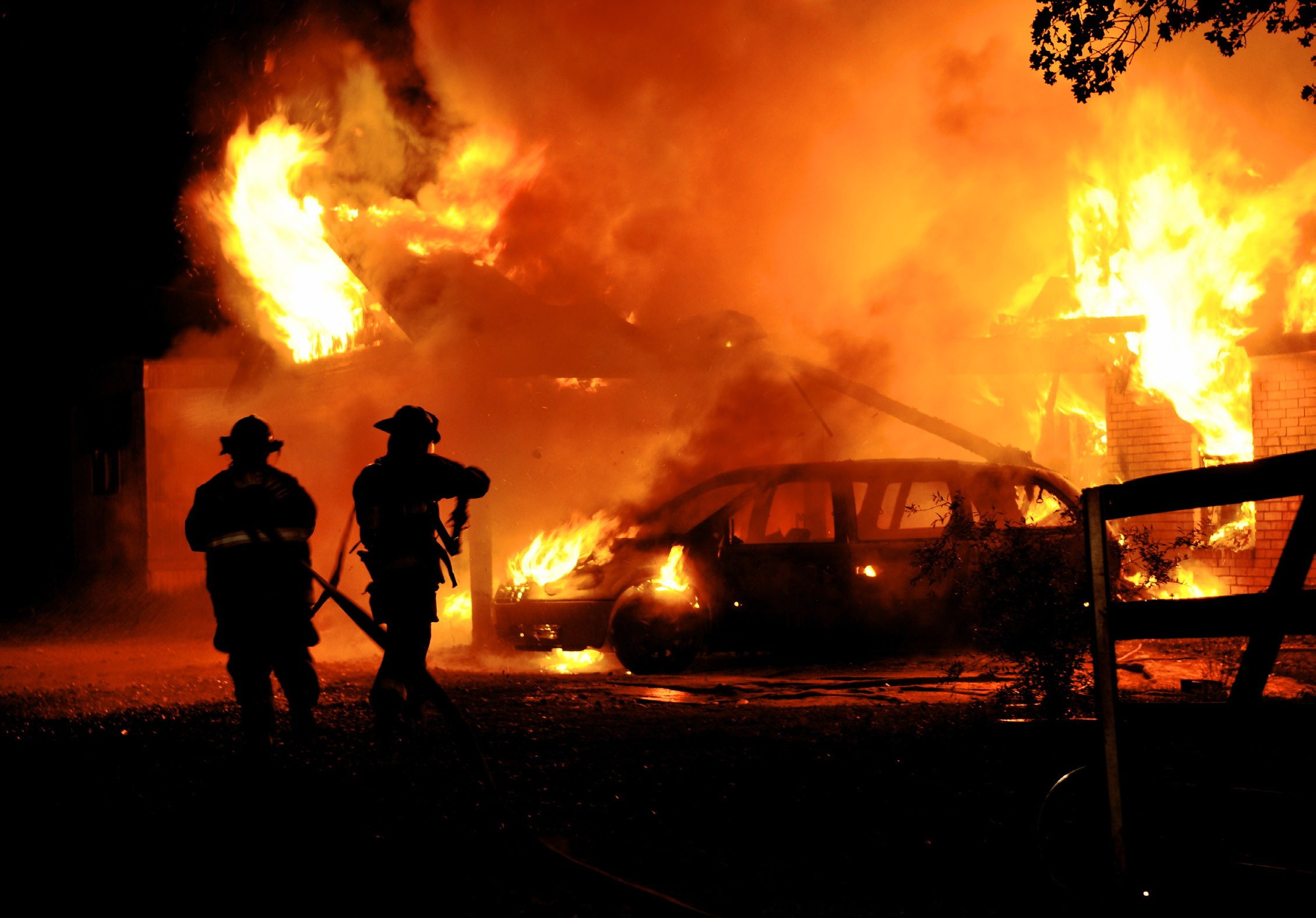 A fire incinerated a vehicle and home on Waycross Road off Old Pleasanton Road in north Atascosa County around midnight on Sunday. Ata-Bexar, Leming, Pleasanton, and Poteet volunteer fire departments responded. No one was injured.