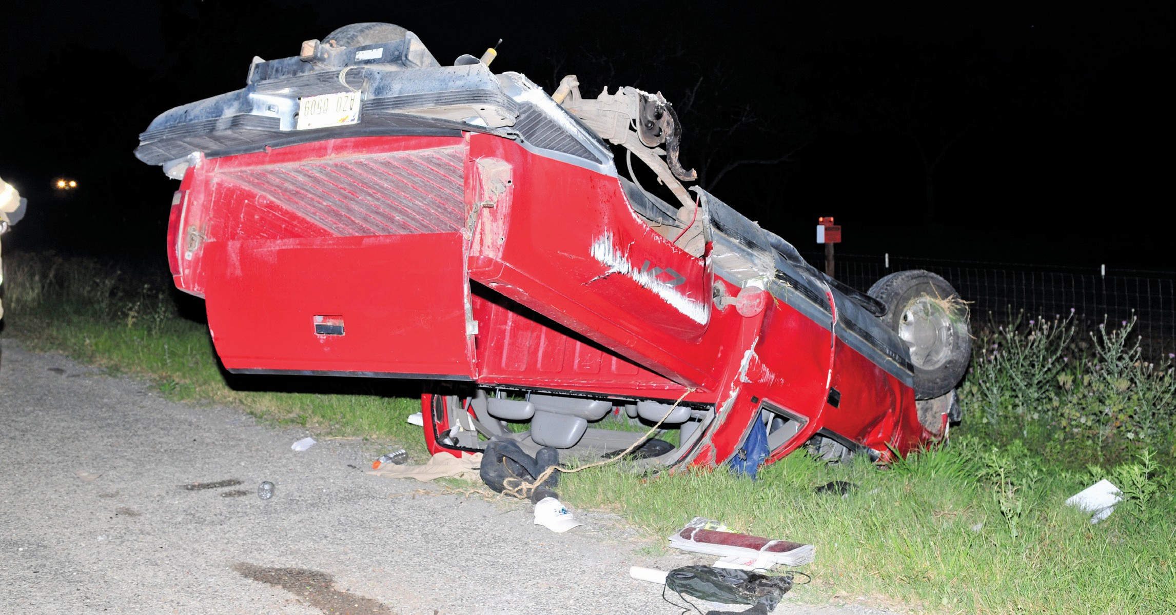 A truck rolled over on Highway 16 north of Poteet around 7 p.m. on Sunday. Department of Public Safety Troopers, Atascosa County Sheriff's Deputies and Poteet Volunteer Fire Department worked the scene. EMS checked out the driver, who sustained nothing more than a cut to his face and hand. The driver refused transport.