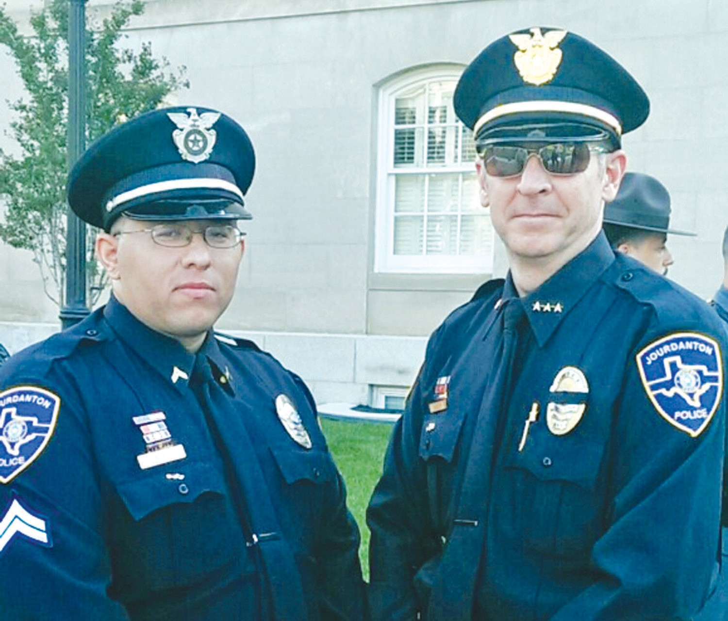 Jourdanton Police Chief Eric Kaiser and Corporal Santos Gonzales were in the nation's capital to attend the United by Light event during National Police Week.