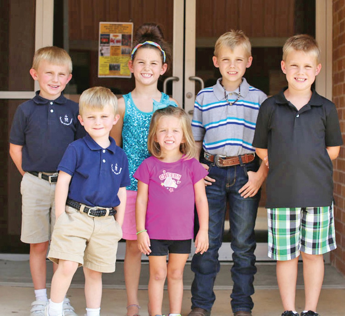 These kids are ready for the St. Matthew's Picnic and would like you to join them this Sunday in Jourdanton. Pictured (left to right) Hayden Jenschke, Peyton Jenschke, Leddy Rae Guinn, Dani Guinn, Garrison Vyvlecka and Drake Vyvlecka.