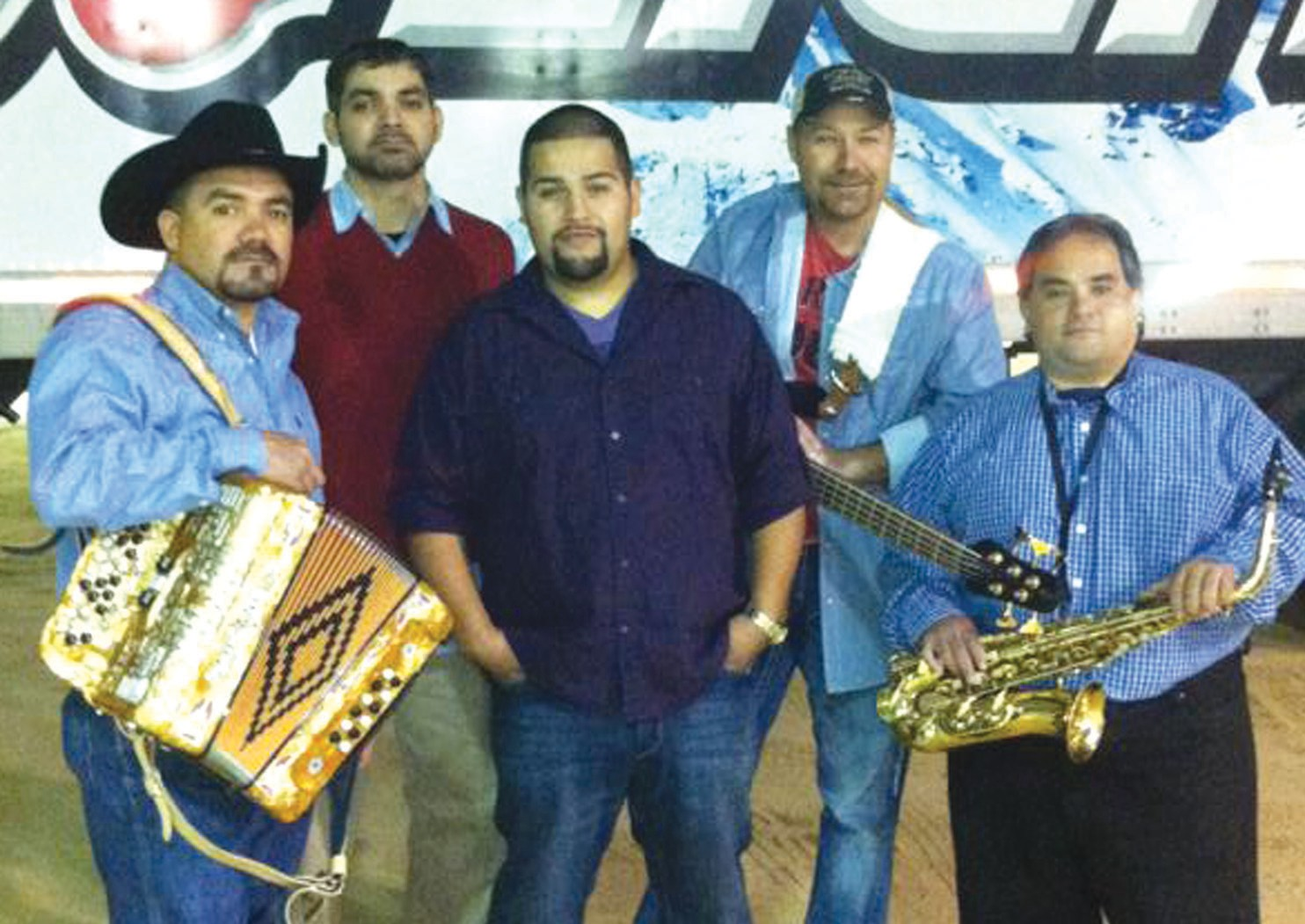 Tejano Cavalry members are, left to right: Angel Valdez, Fabian Valdez, Rick Ortiz, Bruce Hudson and Javier Villarreal. Not pictured is Leo Leal.