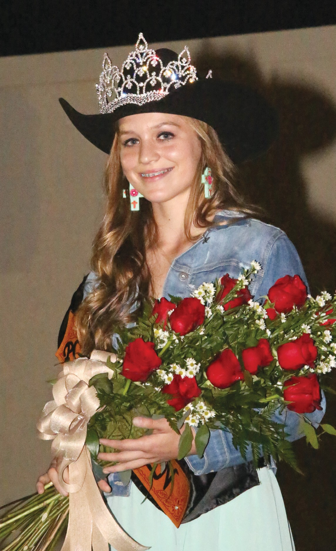 Jordyn Olle is crowned the 49th Cowboy Homecoming Queen at the coronation held Thursday, October 23 at the kick-off event.