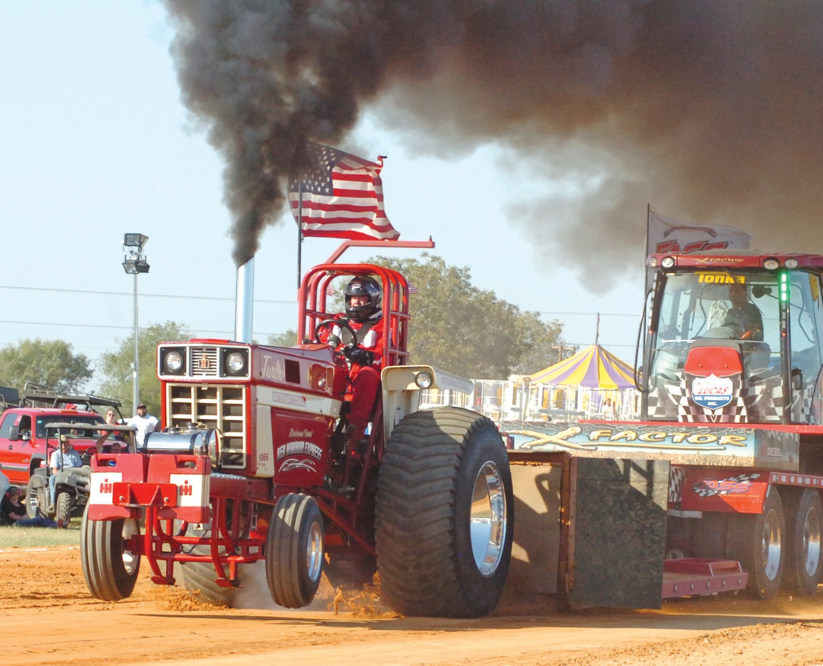 A successful tractor pull was held at this year's Cowboy Homecoming weekend. The event drew a large crowd and received rave reviews.
