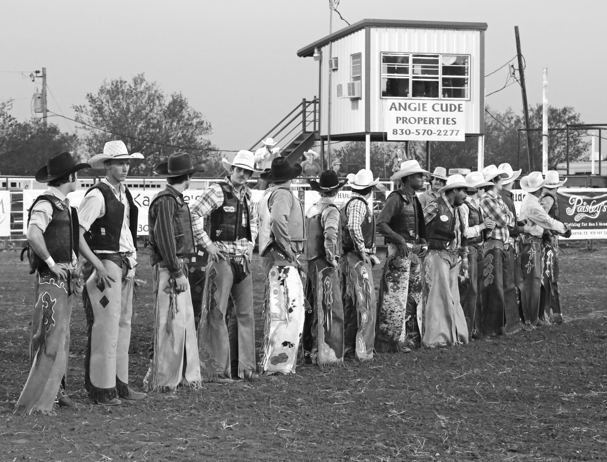 Participating bullriders prepare to ride as they are introduced at this year's Cowboy Homecoming.
