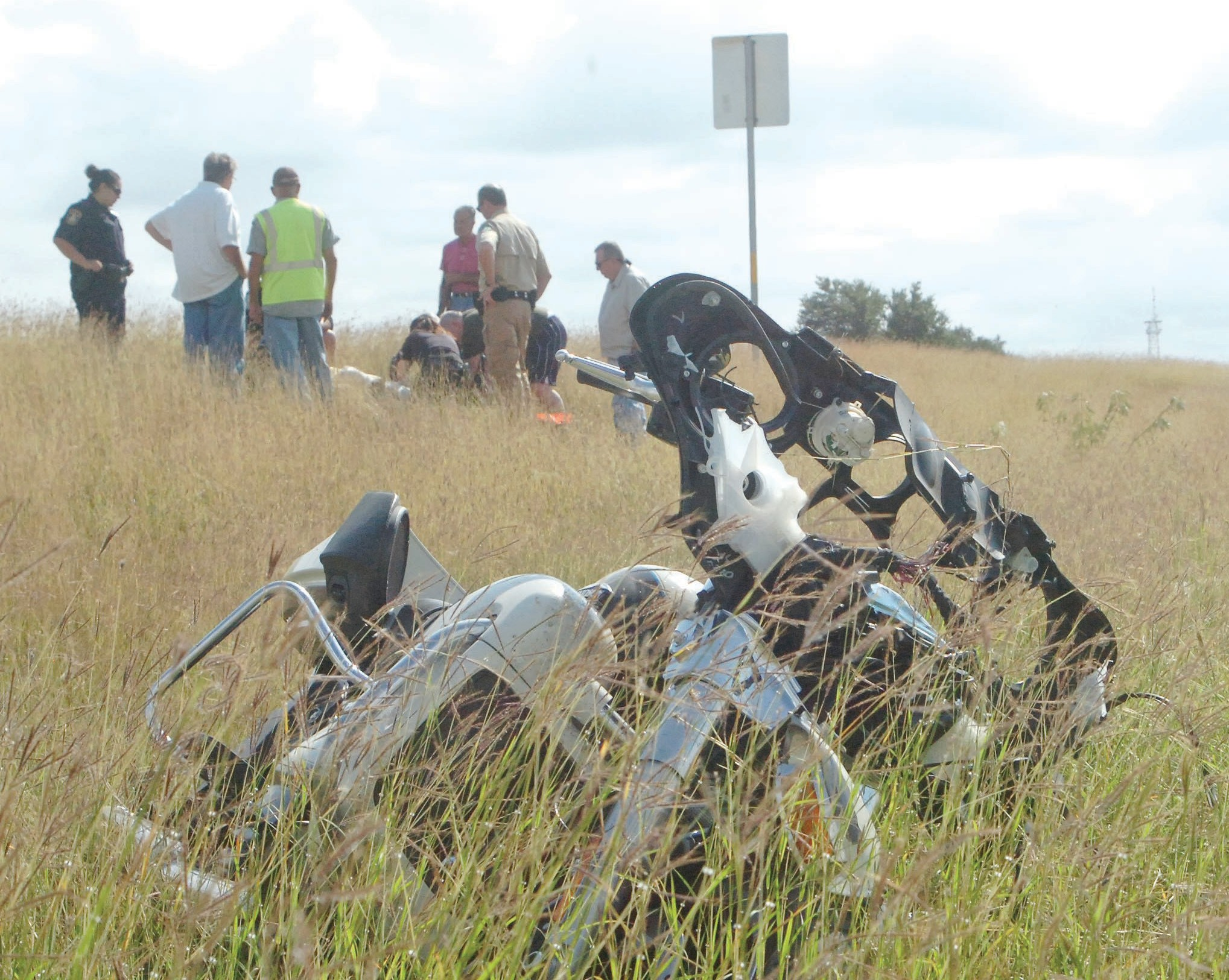 A motorcyclist was injured in an accident on Hwy 281 and 37. The accident occurred on October 29th.