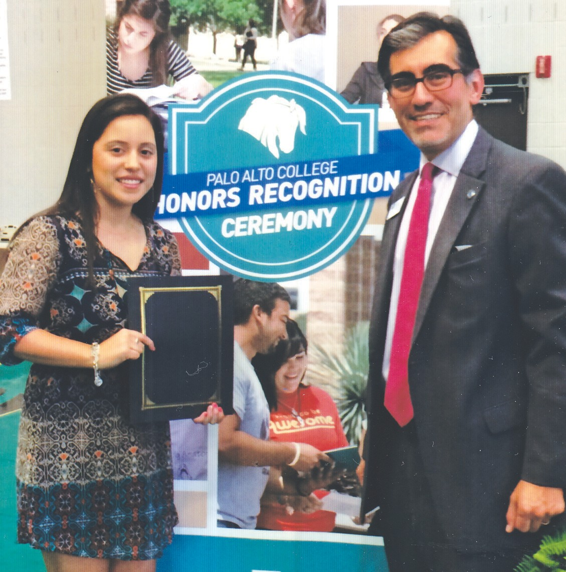 Leah Badillo was recognized at the Palo Alto College Honors Recognition Ceremony, by the President of Palo Alto College, Dr. Mike Flores. She received the President Honors Award for achieving a 4.0 grade point average during spring 2014. She is the daughter of Freddy and Olivia Badillo of Jourdanton and a 2013 graduate of Jourdanton High School.