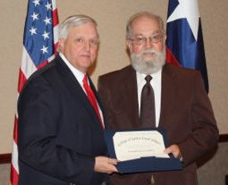 Justice of the Peace Precinct 2 Kyle Bradley was recently inducted into the Texas Justice Court Judges Association College of Justice Court Judges. He receives his certificate from Judge Greg Magee, San Jacinto County Pct. 4 Justice of the Peace.
