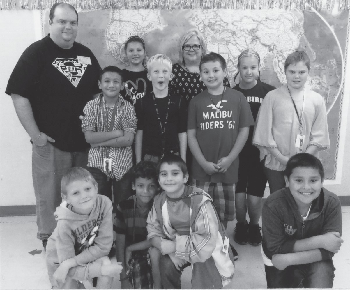 These are just some of the students who were VIPs for the Box Tops lunch earlier this month. Graphic Production specialist David Wickersham and I joined them as their guests.