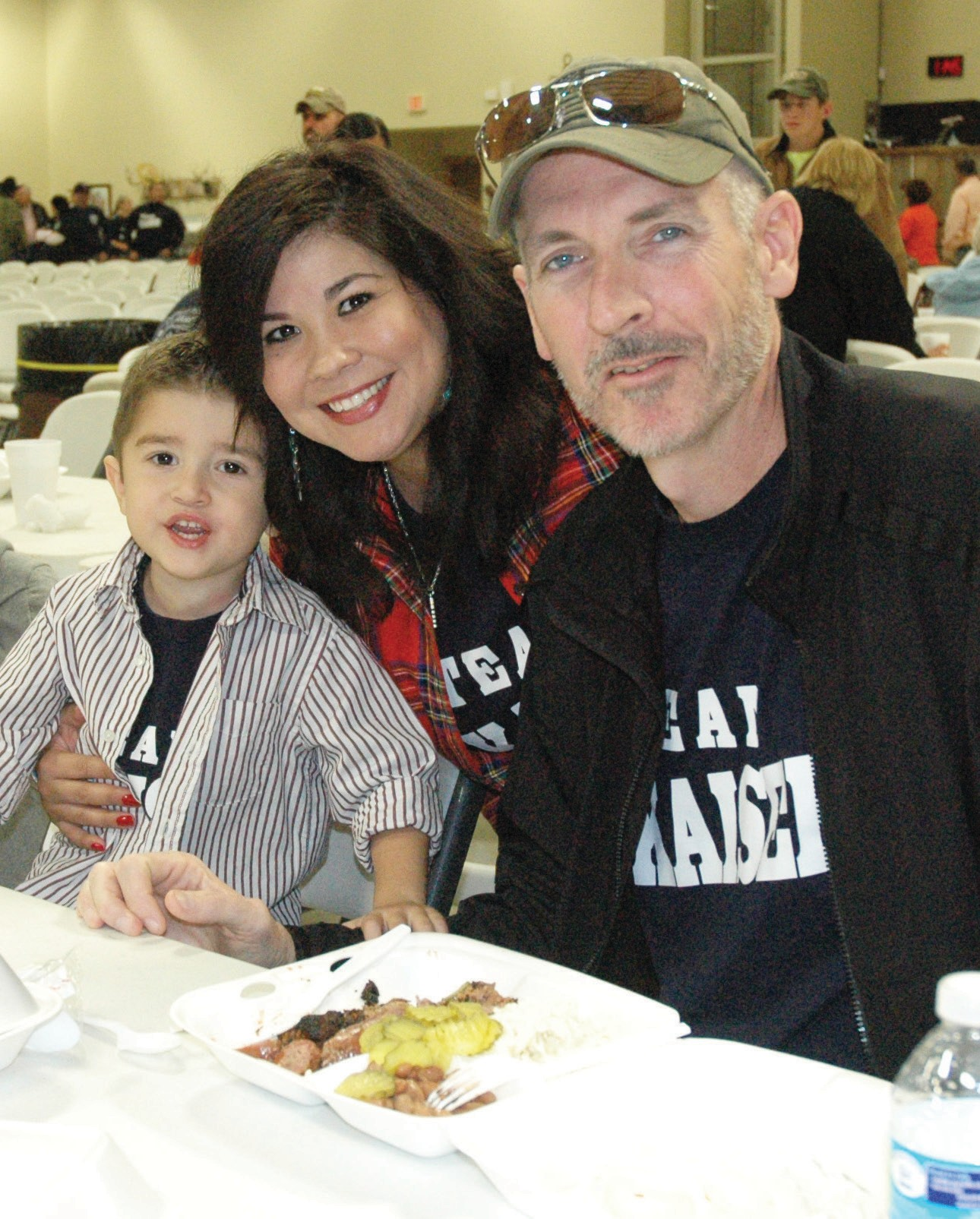 Ethan, Dina and Eric Kaiser were thankful for all of the support at the TEAM KAISER fundraiser held last Saturday for Chief Kaiser. The luncheon was a huge success as was the live auction and raffle. Kaiser, diagnosed with a rare kidney cancer, has been undergoing treatment in Arizona.