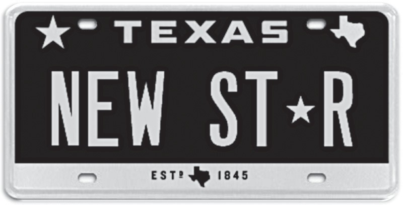Theres A New Star On Texas License Plates
