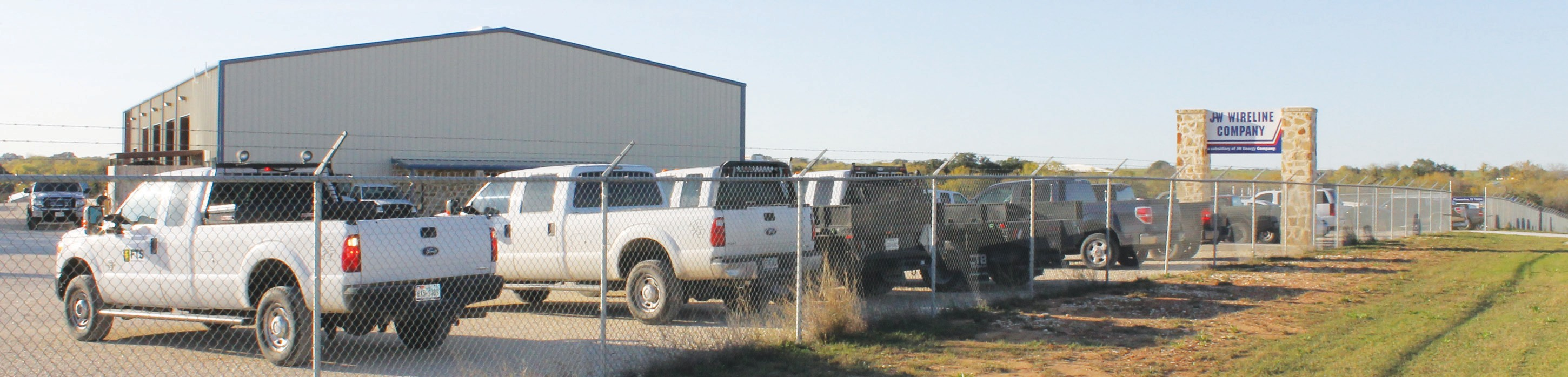 J-W Wireline facilities northeast of Pleasanton at 6921 FM 1764. The firm was acquired recently by FTS International