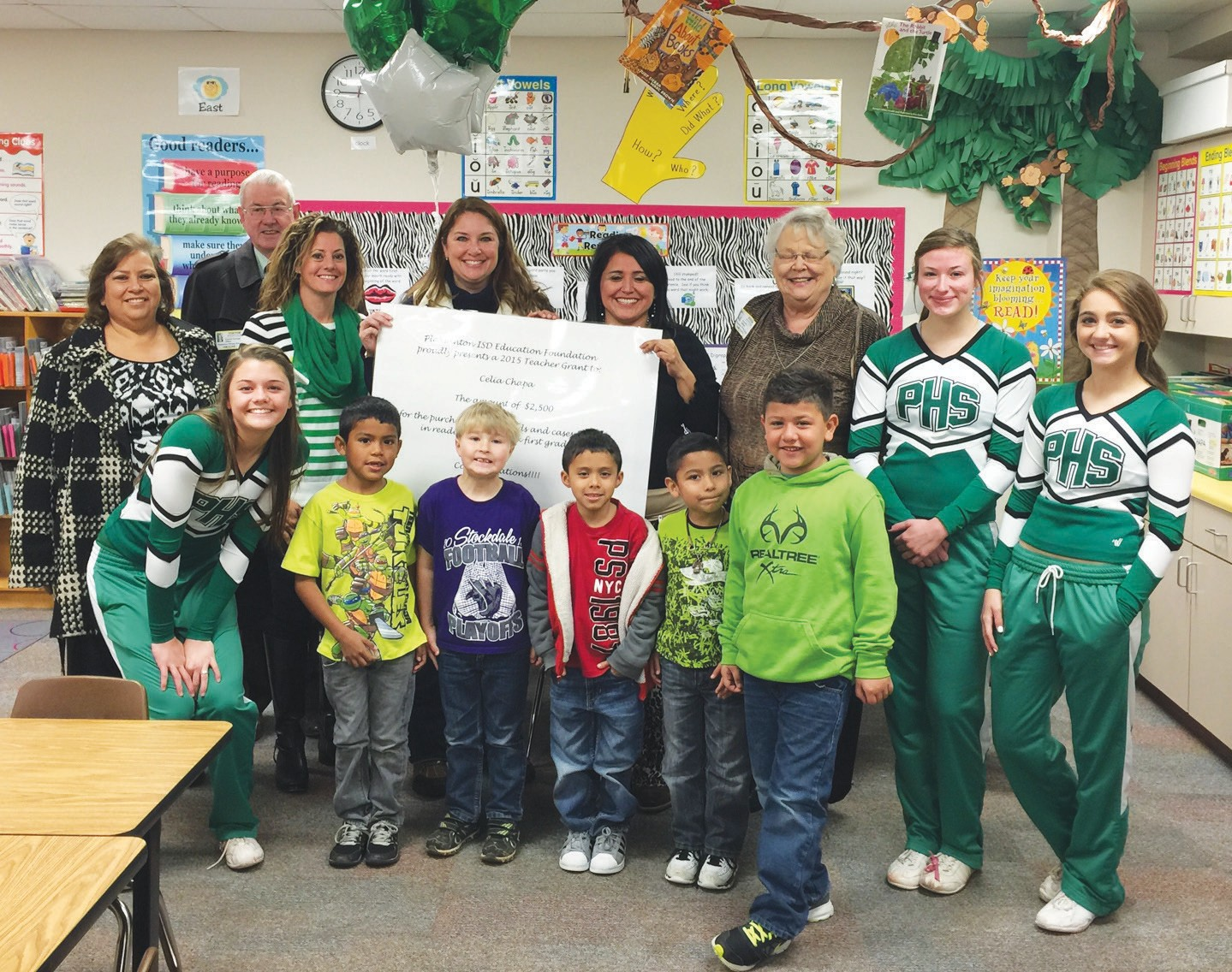 Celia Chapa a reading interventionist at the Pleasanton Primary received $2,500 to purchase iPads to improve reading skills.