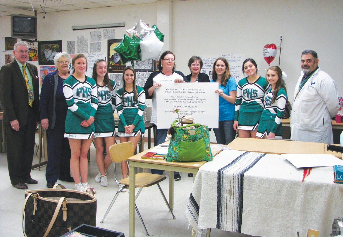 "The PHS Art Department received $1,060.72 to buy materials for their ""Art with Heart"" project."